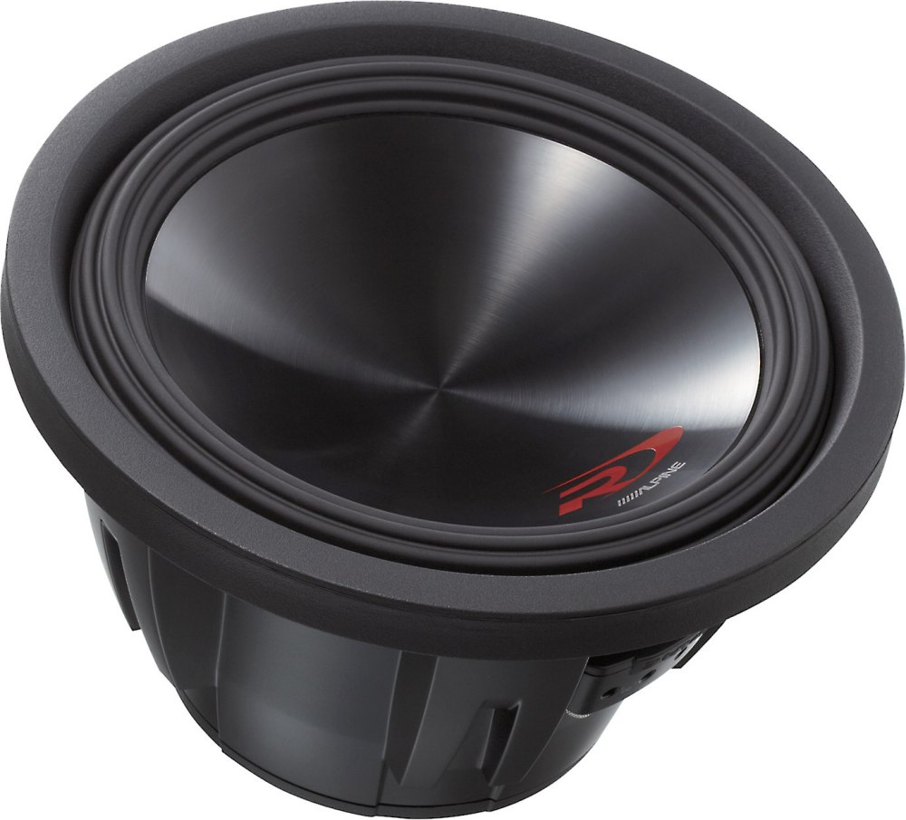 medium resolution of alpine swr 12d4 type r 12 subwoofer with dual 4 ohm voice coils at crutchfield