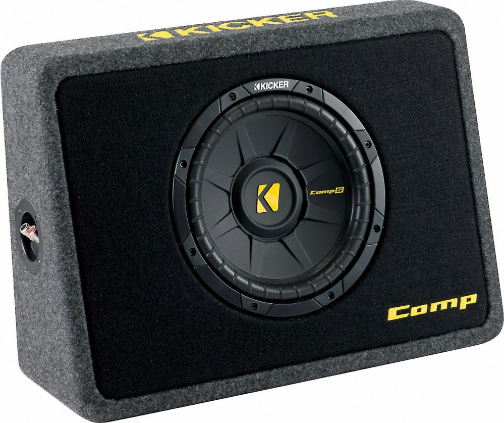 medium resolution of kicker 40tcws104 ported truck enclosure with one 4 ohm 10 comps subwoofer at crutchfield