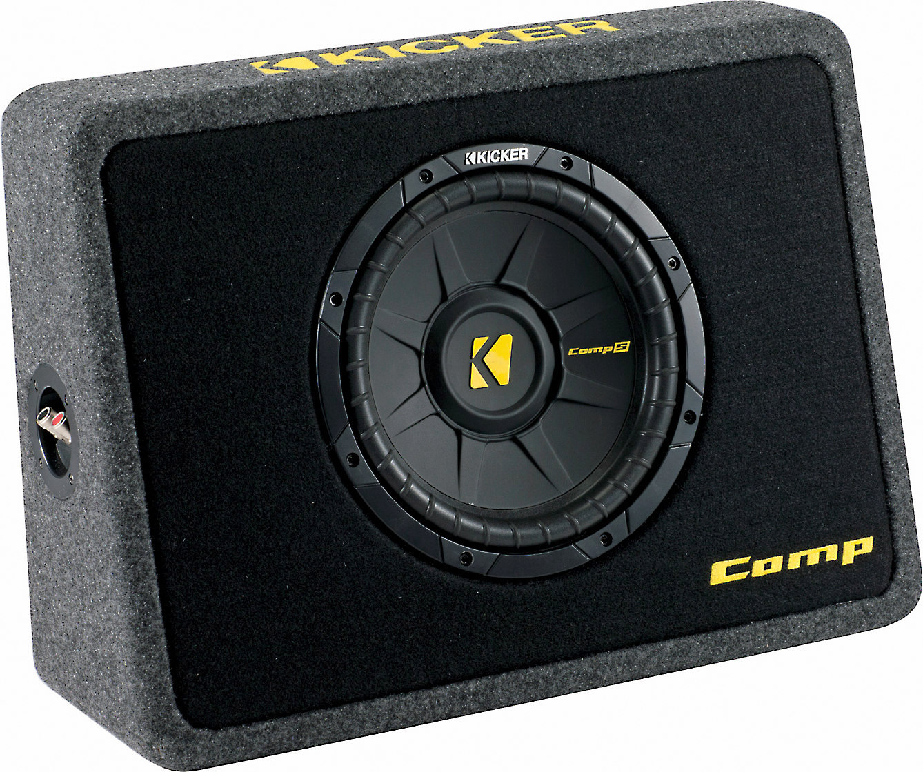 hight resolution of kicker 40tcws104 ported truck enclosure with one 4 ohm 10 comps subwoofer at crutchfield