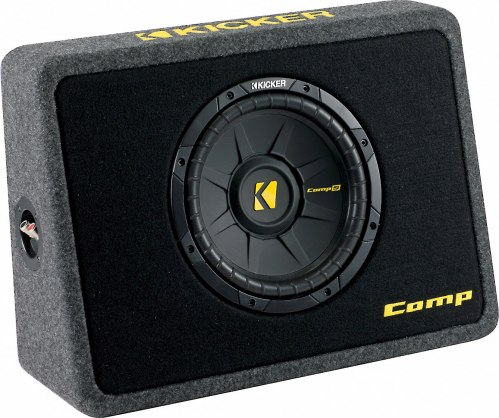small resolution of kicker 40tcws104 ported truck enclosure with one 4 ohm 10 comps subwoofer at crutchfield
