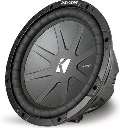 kicker 40cwr102 compr series 10 subwoofer with dual 2 ohm voice coils at crutchfield com [ 1000 x 1077 Pixel ]
