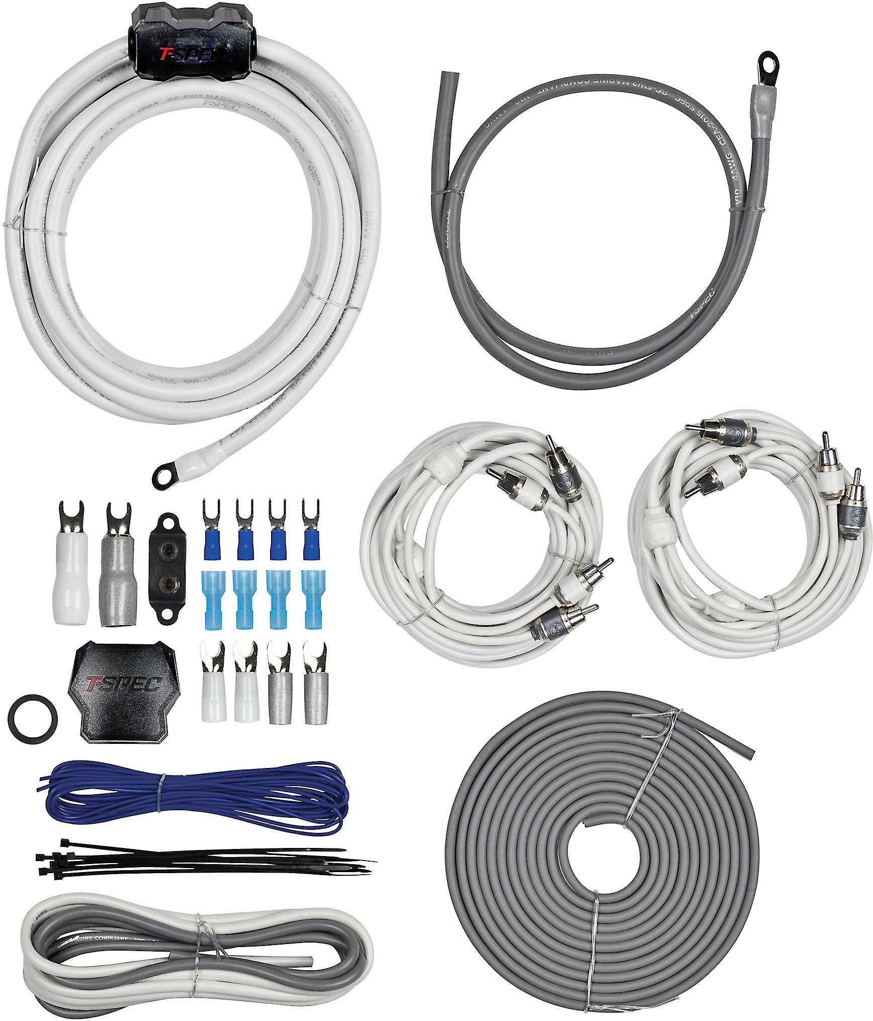 T-Spec 4DAK Installation Kit 4-gauge dual amplifier wiring