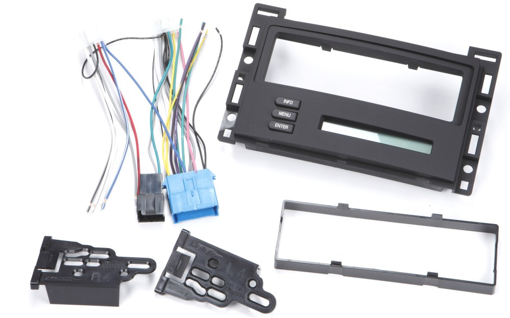 medium resolution of metra 99 3303 dash and wiring kit install and connect a new single din car stereo and retain the driver info center in select 2004 09 chevrolet or pontiac