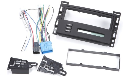 small resolution of metra 99 3303 dash and wiring kit install and connect a new single din car stereo and retain the driver info center in select 2004 09 chevrolet or pontiac