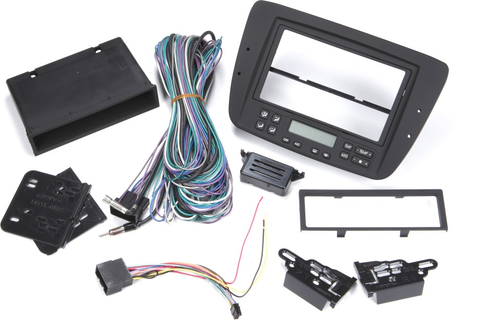medium resolution of metra 99 5718 dash and wiring kit install and connect a new single din or double din car stereo in a 2000 03 ford taurus or mercury sable with electronic
