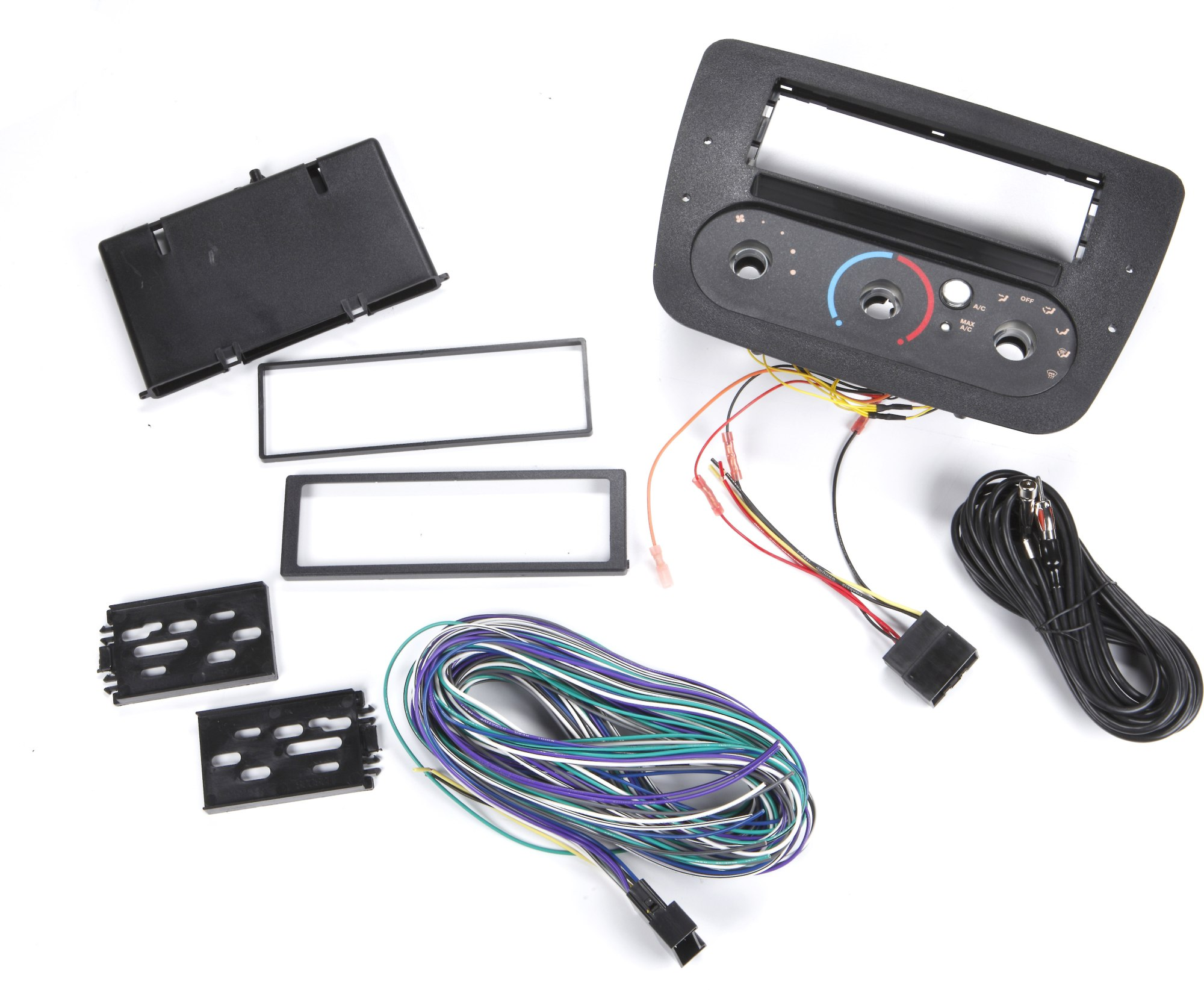 hight resolution of scosche fd1380b dash and wiring kit install and connect a new car stereo in select 2000 up ford taurus and mercury sable vehicles with rotary climate