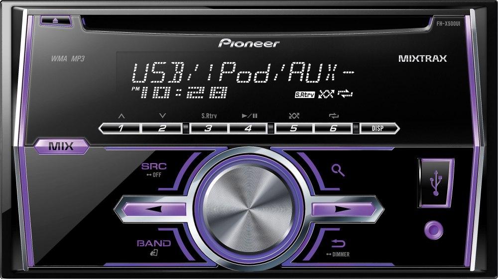 medium resolution of pioneer fh x500ui cd receiver at crutchfield com car stereo wiring harness pioneer fh x500