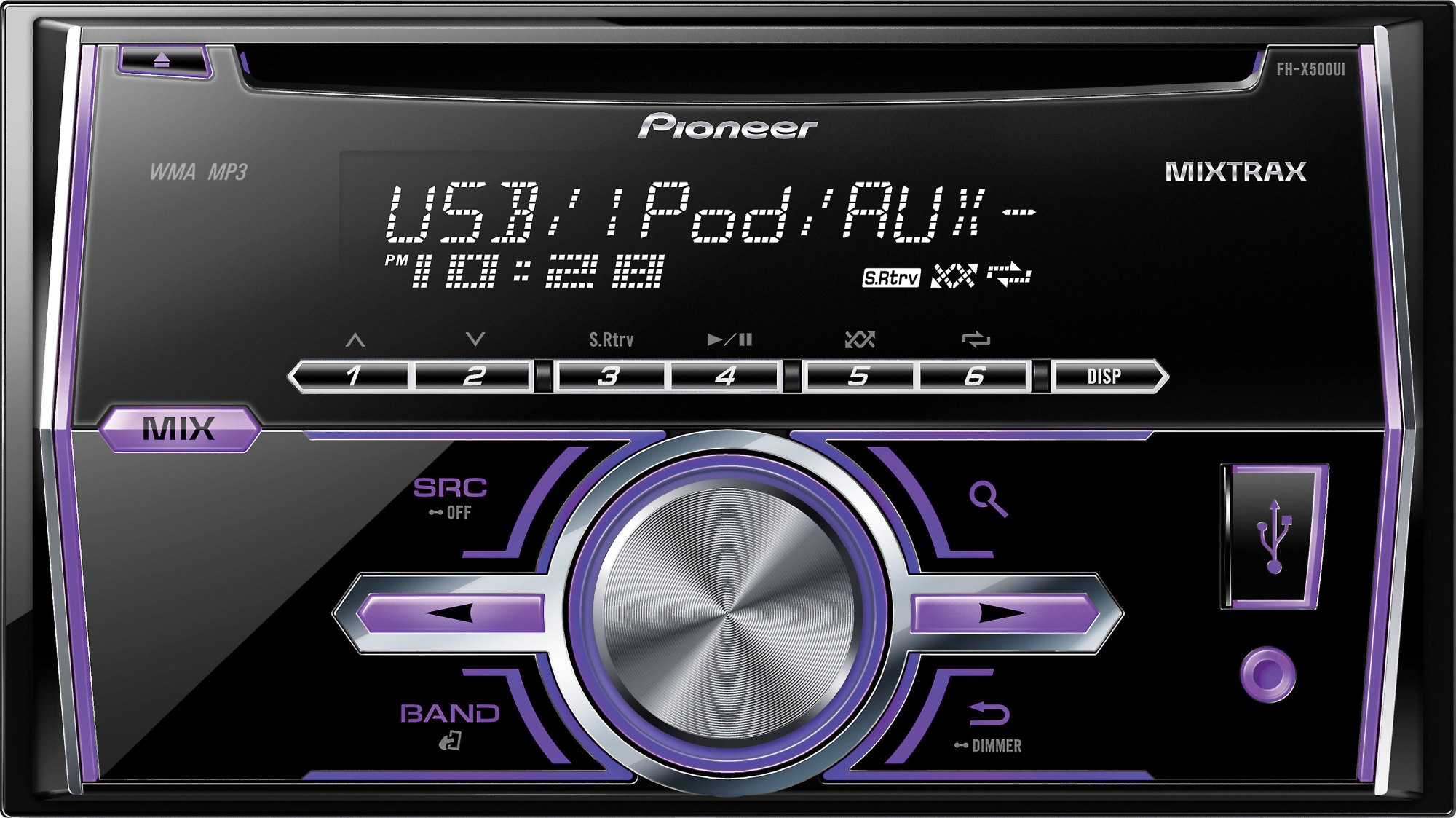 hight resolution of pioneer fh x500ui cd receiver at crutchfield com car stereo wiring harness pioneer fh x500