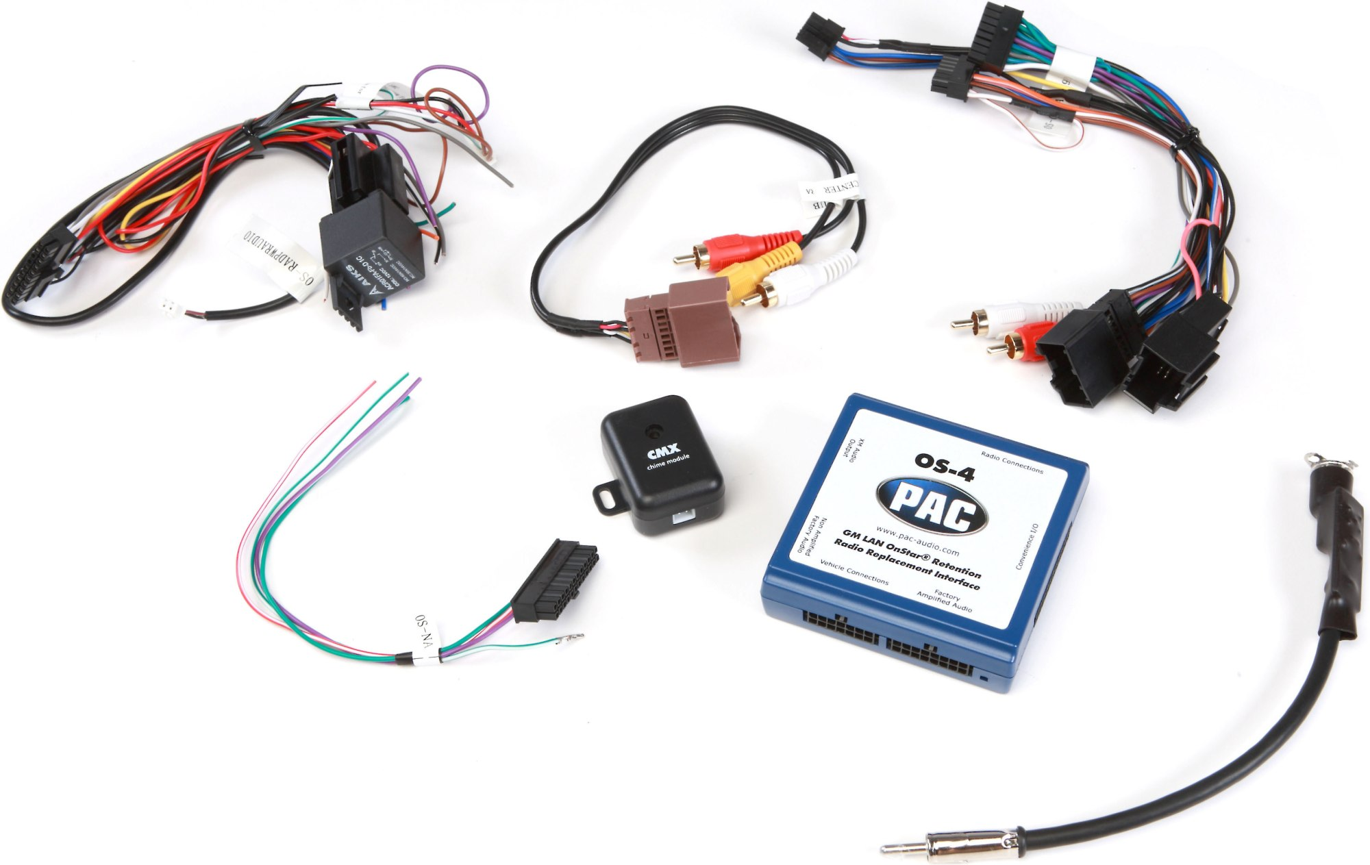 hight resolution of pac os 4 wiring interface connect a new car stereo and retain safety warning chimes onstar rear seat controls the factory amp and xm tuner in select
