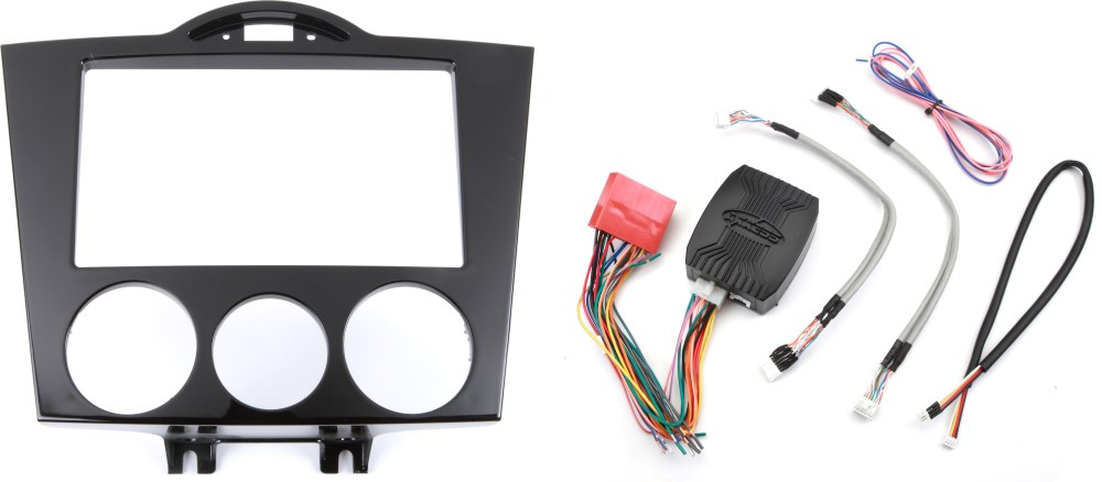 medium resolution of metra 95 7510 dash and wiring kit gloss black install and connect a new double din car stereo in a 2004 08 mazda rx 8 at crutchfield