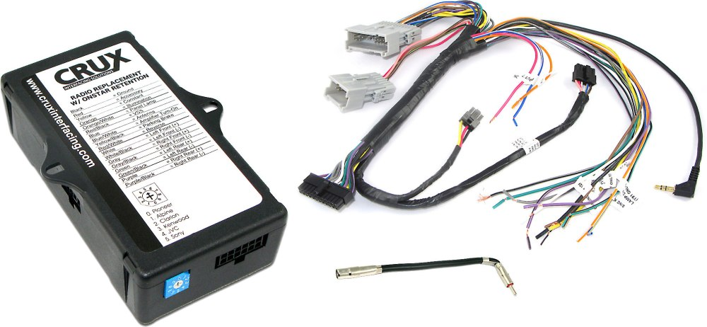 medium resolution of crux soogm 15 gm wiring interface connect a new stereo and retain onstar warning chimes factory amp and steering wheel controls in select 2000 up gm