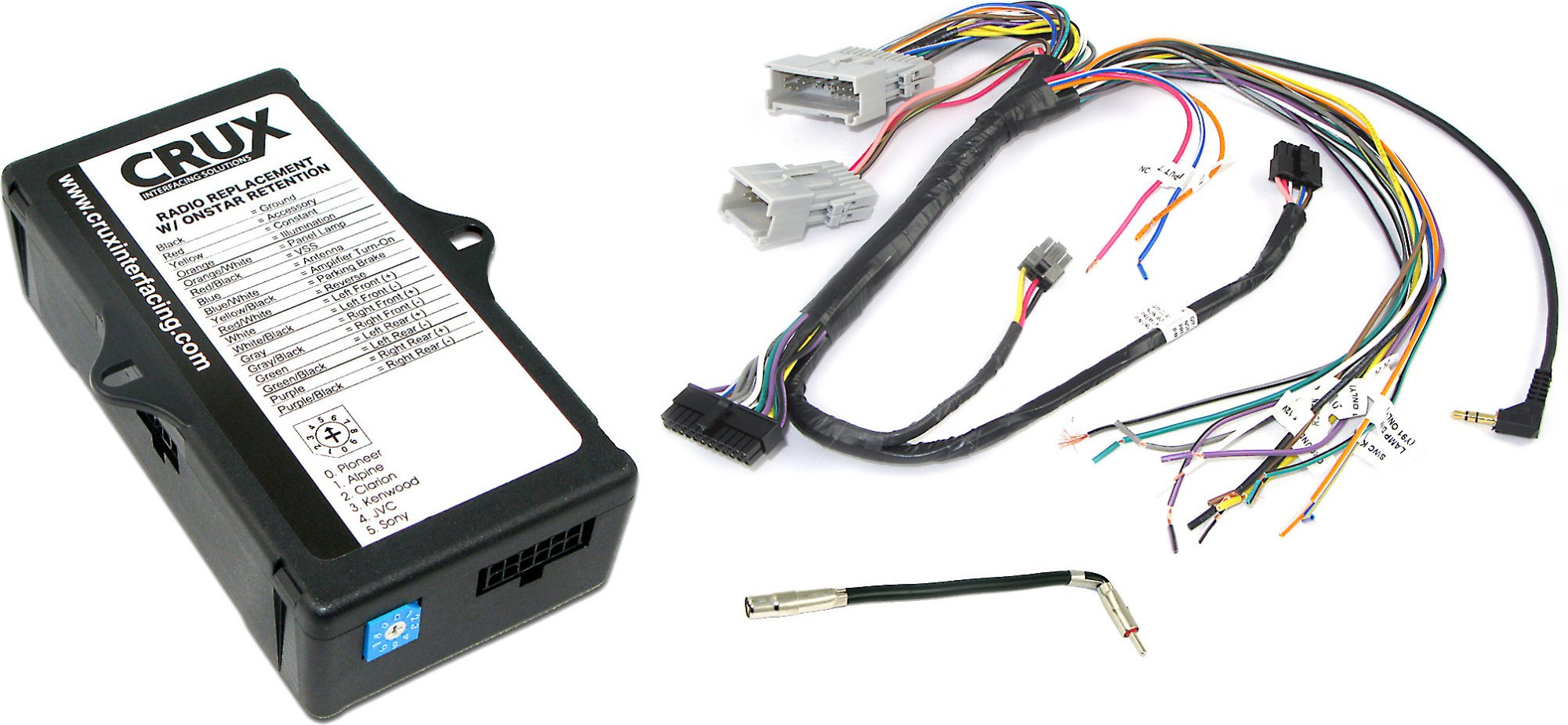 hight resolution of crux soogm 15 gm wiring interface connect a new stereo and retain onstar warning chimes factory amp and steering wheel controls in select 2000 up gm