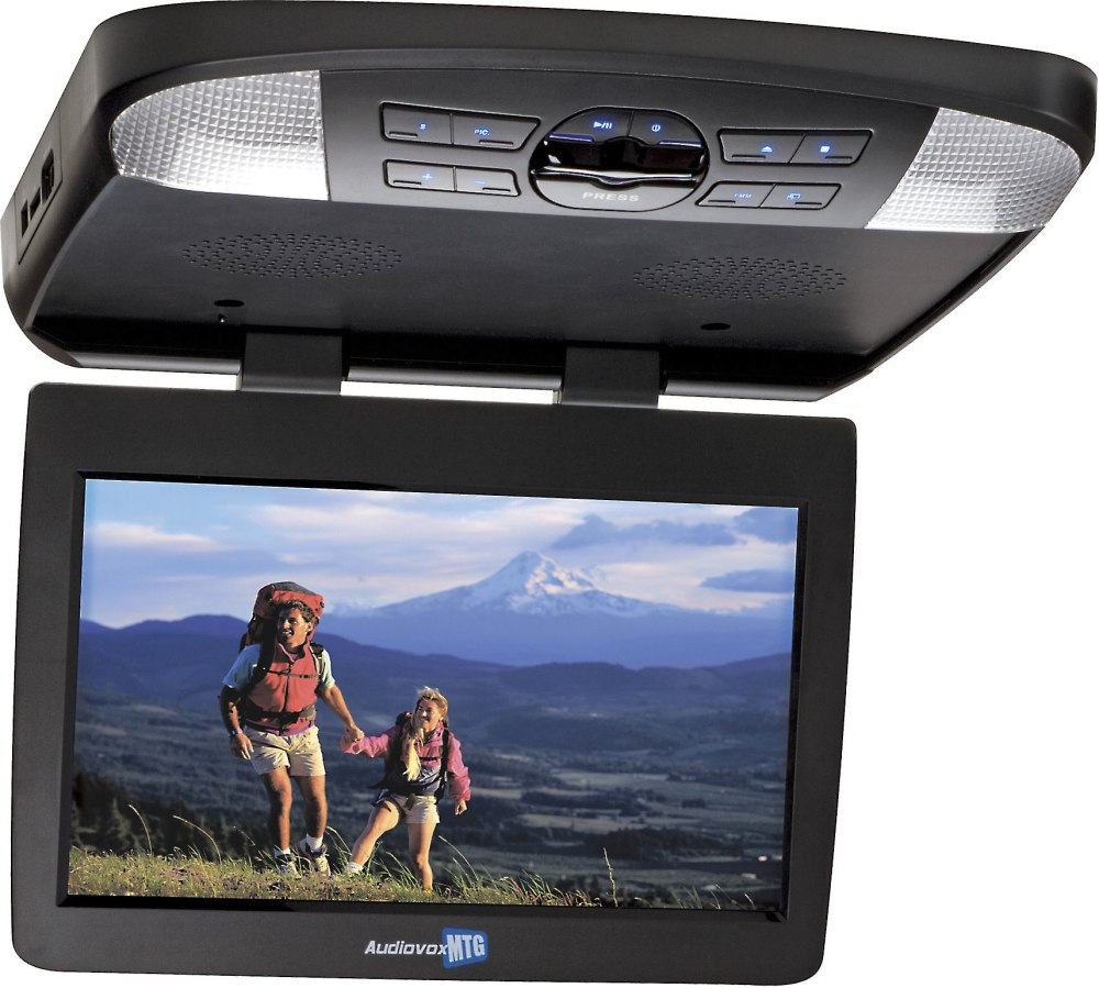 medium resolution of audiovox avxmtg13ua 13 3 overhead video monitor with built in dvd player at crutchfield com