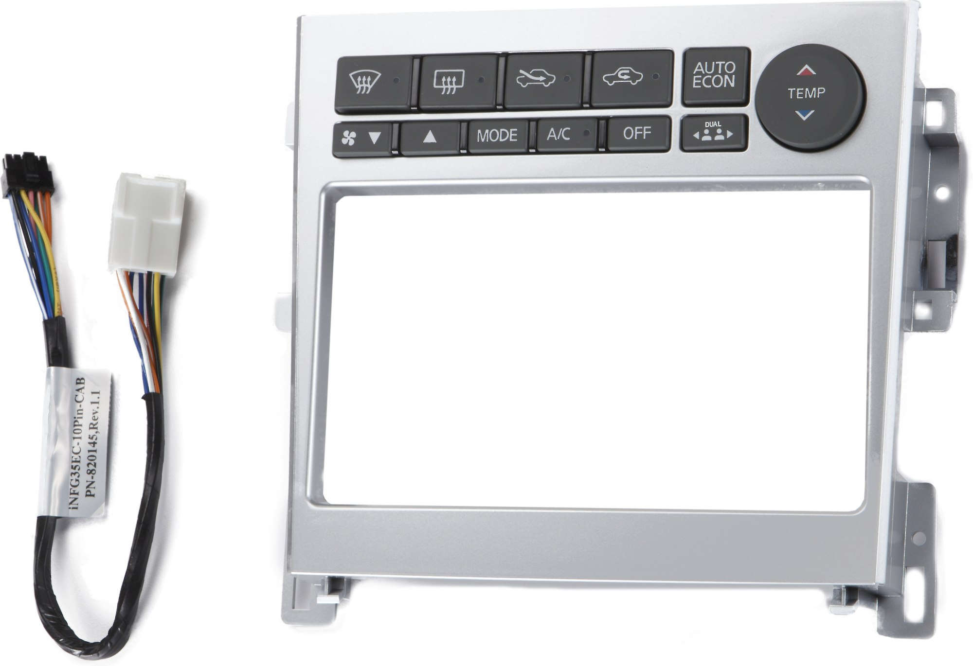 hight resolution of metra 95 7605 dash kit silver finish install a new double din receiver in your 2005 07 infiniti g35 at crutchfield