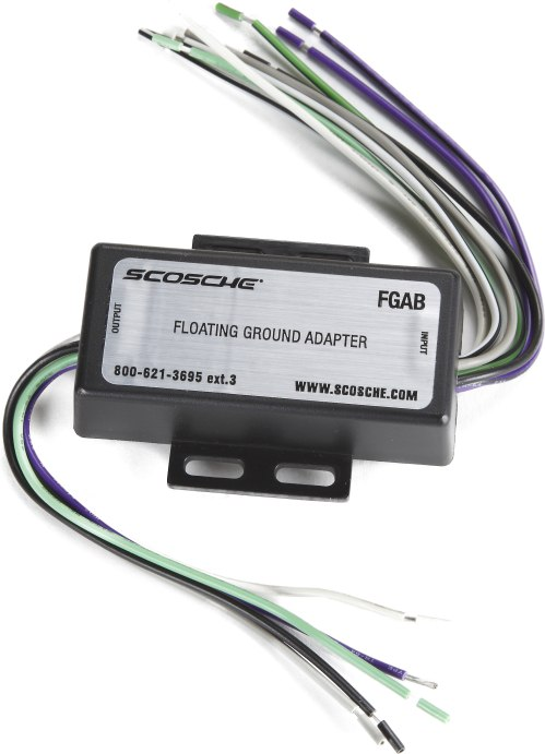 small resolution of scosche fga floating ground adapter connect a new car stereo in select older pre 1995 vehicles with a common ground speaker system at crutchfield com