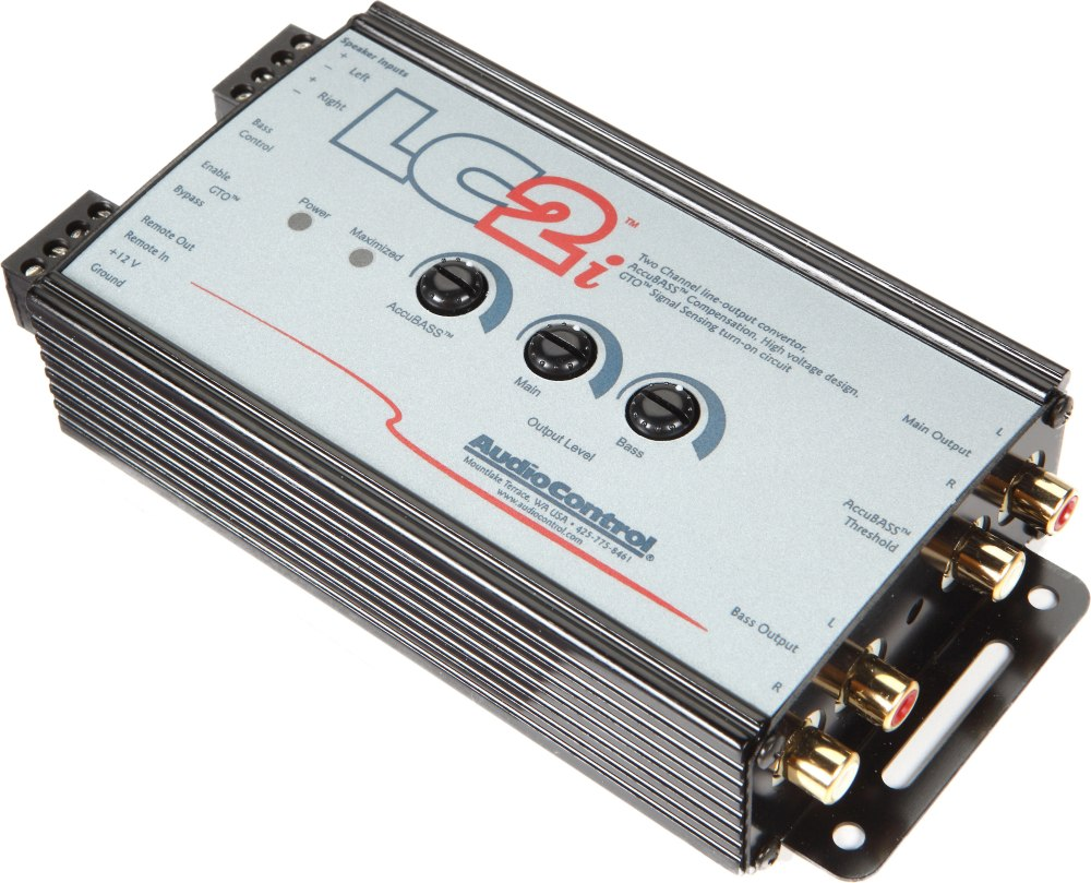 medium resolution of audiocontrol lc2i 2 channel line output converter for adding amps to your factory system at crutchfield com