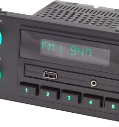 retrosound newport digital media receiver for gm chrysler ford and jeep vehicles with 1 5 din dash openings does not play cds at crutchfield com [ 2967 x 1892 Pixel ]