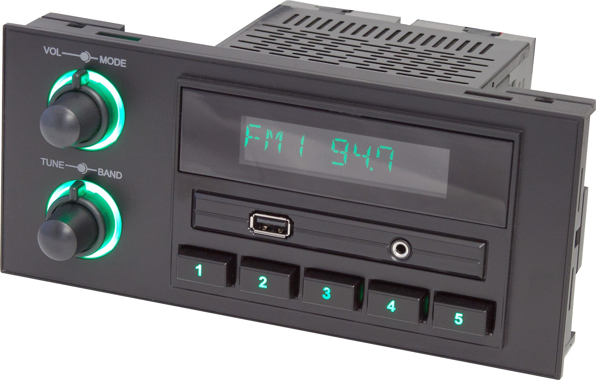 hight resolution of retrosound newport digital media receiver for gm chrysler ford and jeep vehicles with 1 5 din dash openings does not play cds at crutchfield com