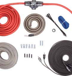 rockford fosgate rfk4x complete 4 gauge amplifier wiring kit includes patch cable and speaker wire at crutchfield com [ 1000 x 801 Pixel ]
