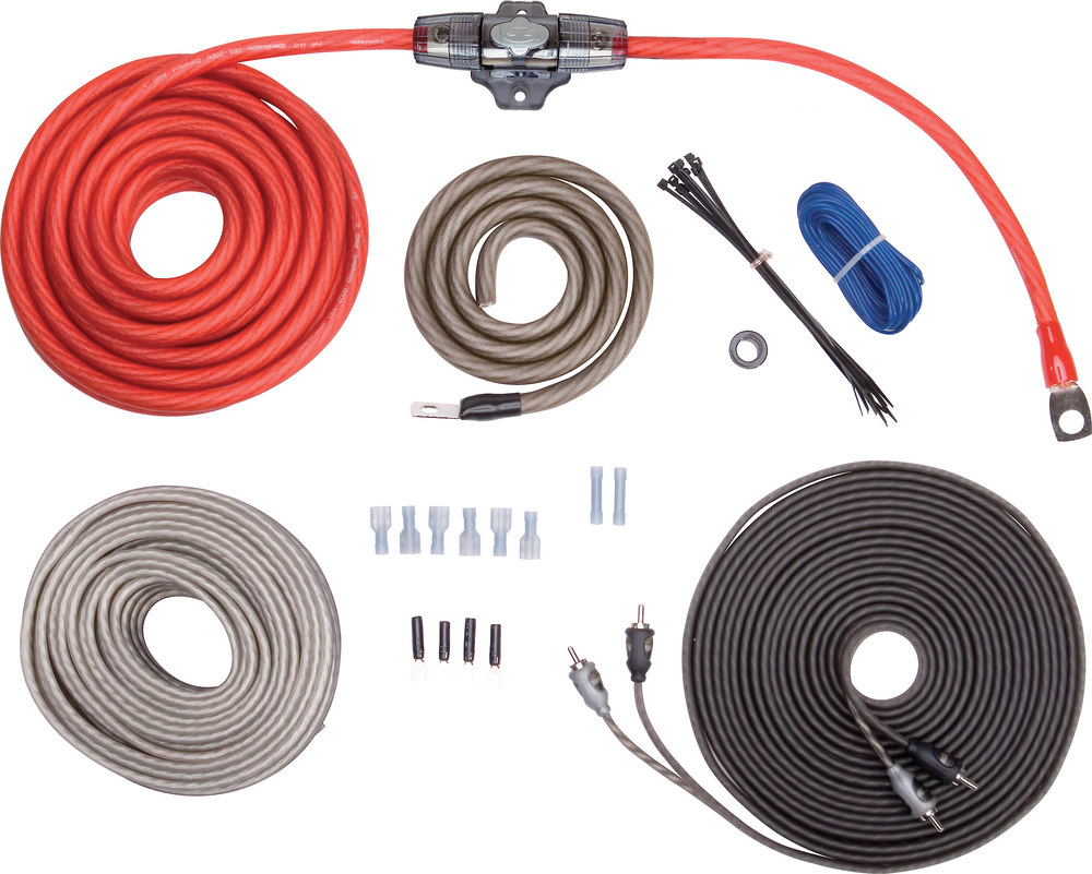 hight resolution of rockford fosgate rfk4x complete 4 gauge amplifier wiring kit includes patch cable and speaker wire at crutchfield com