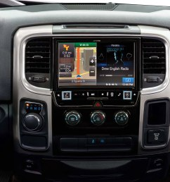 alpine x009 ram in dash restyle system navigation receiver custom fit replacement radio with 9 screen for select 2013 up ram trucks at crutchfield [ 6000 x 3900 Pixel ]