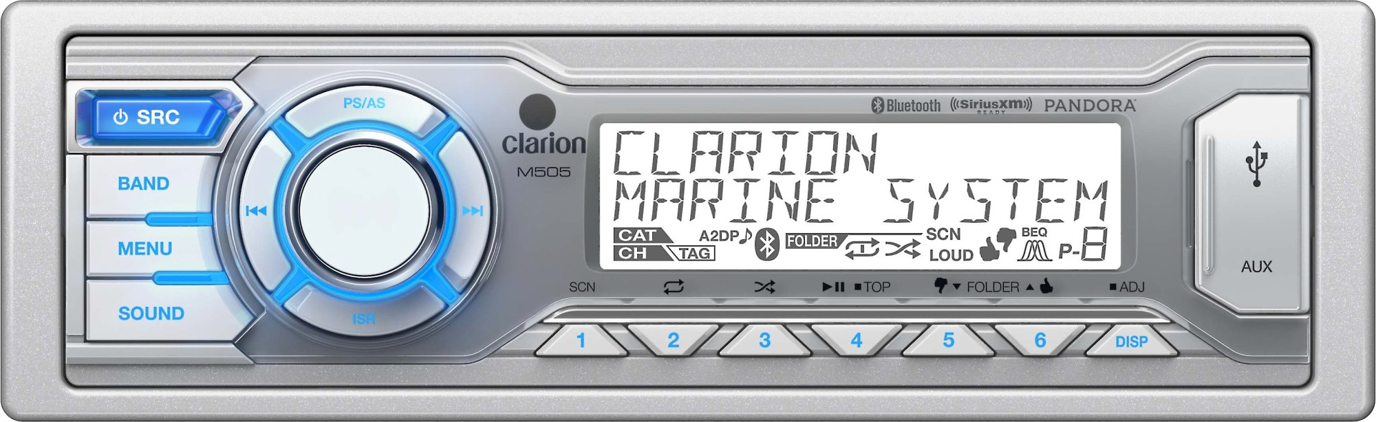 hight resolution of clarion m505 marine digital media receiver with bluetooth does not play cds at crutchfield
