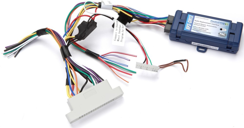 medium resolution of pac rp3 gm13 wiring interface allows you to connect a new car stereo general motors 20002005 radio wiring harness interface gmrc04 by