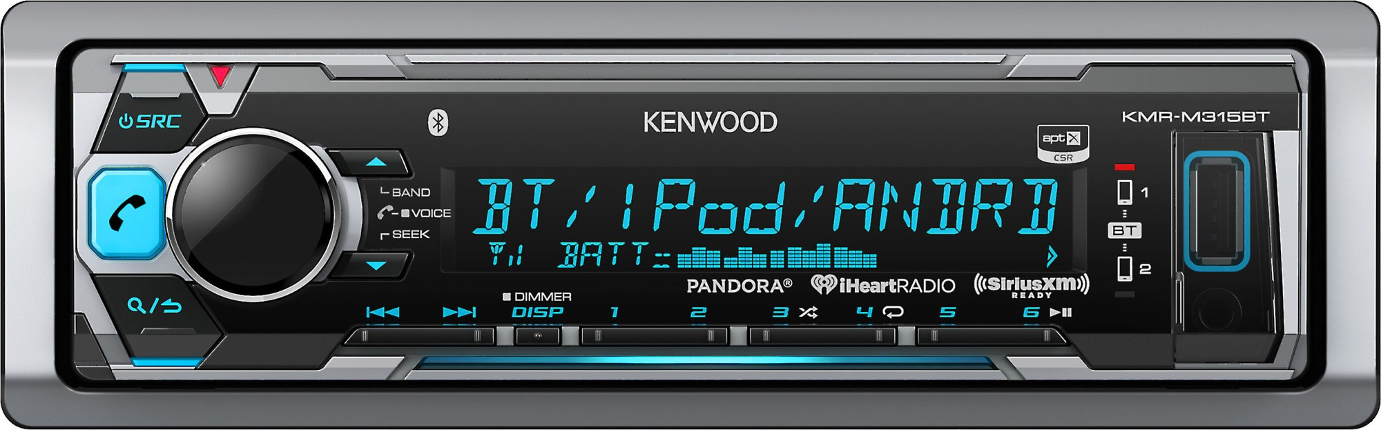 hight resolution of kenwood kmr m315bt marine digital media receiver with bluetooth does not play cds at crutchfield com