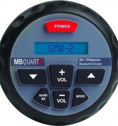 mb quart gmr 2 marine digital media receiver with built in bluetooth at crutchfield com [ 1130 x 1135 Pixel ]