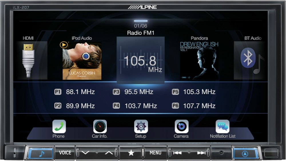 medium resolution of alpine ilx 207 digital multimedia receiver with android auto and apple carplay does not play cds at crutchfield