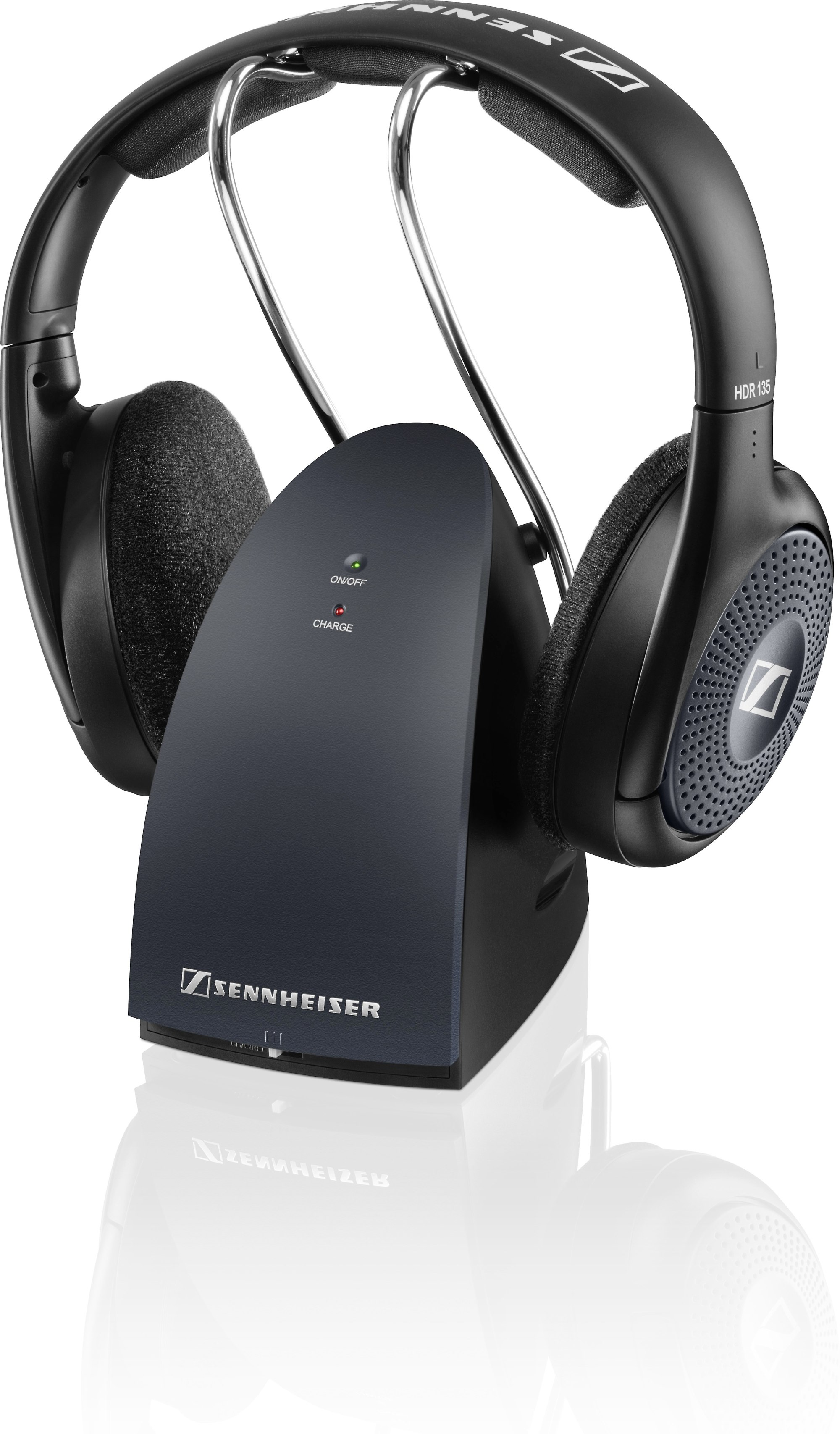 hight resolution of sennheiser rs 135 9 wireless on ear headphones with transmitter at crutchfield