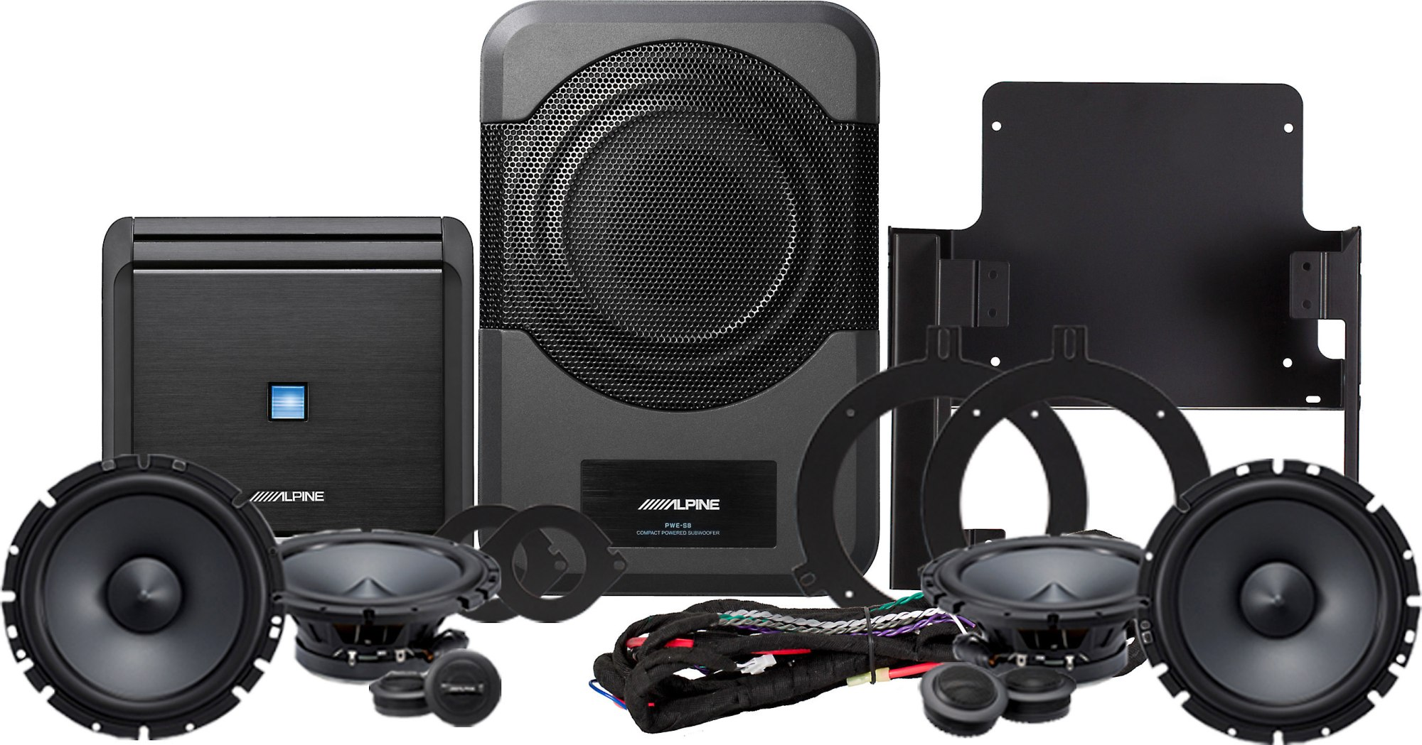 hight resolution of alpine restyle pss 21wra direct fit complete speaker system for select 2015 up jeep wrangler jk unlimited models at crutchfield
