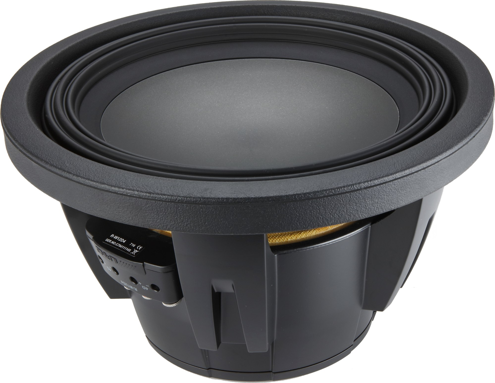 hight resolution of alpine r w12d4 r series 12 subwoofer with dual 4 ohm voice coils at crutchfield