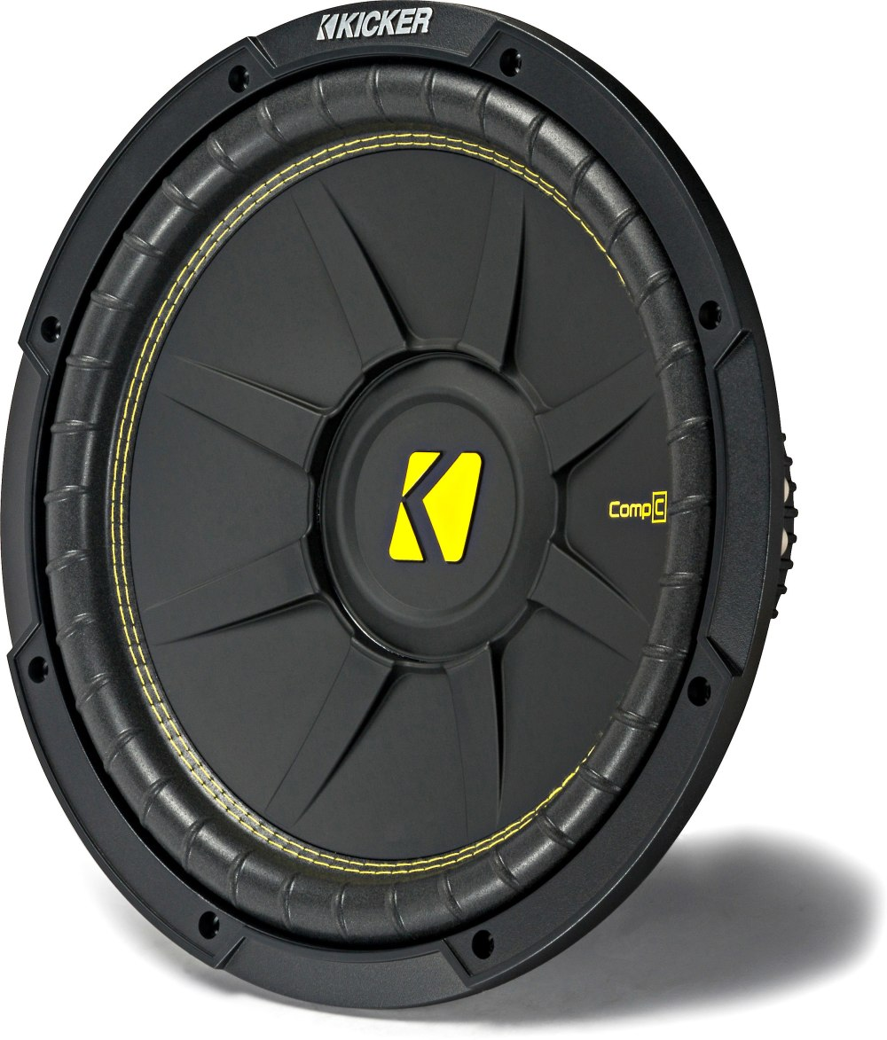 medium resolution of kicker 44cwcd124 compc series 12 subwoofer with dual 4 ohm voice coils at crutchfield