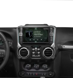 alpine i209 wra in dash restyle system custom fit digital multimedia receiver with 9 screen for select 2011 17 jeep wrangler jk and wrangler jk unlimited  [ 1000 x 820 Pixel ]