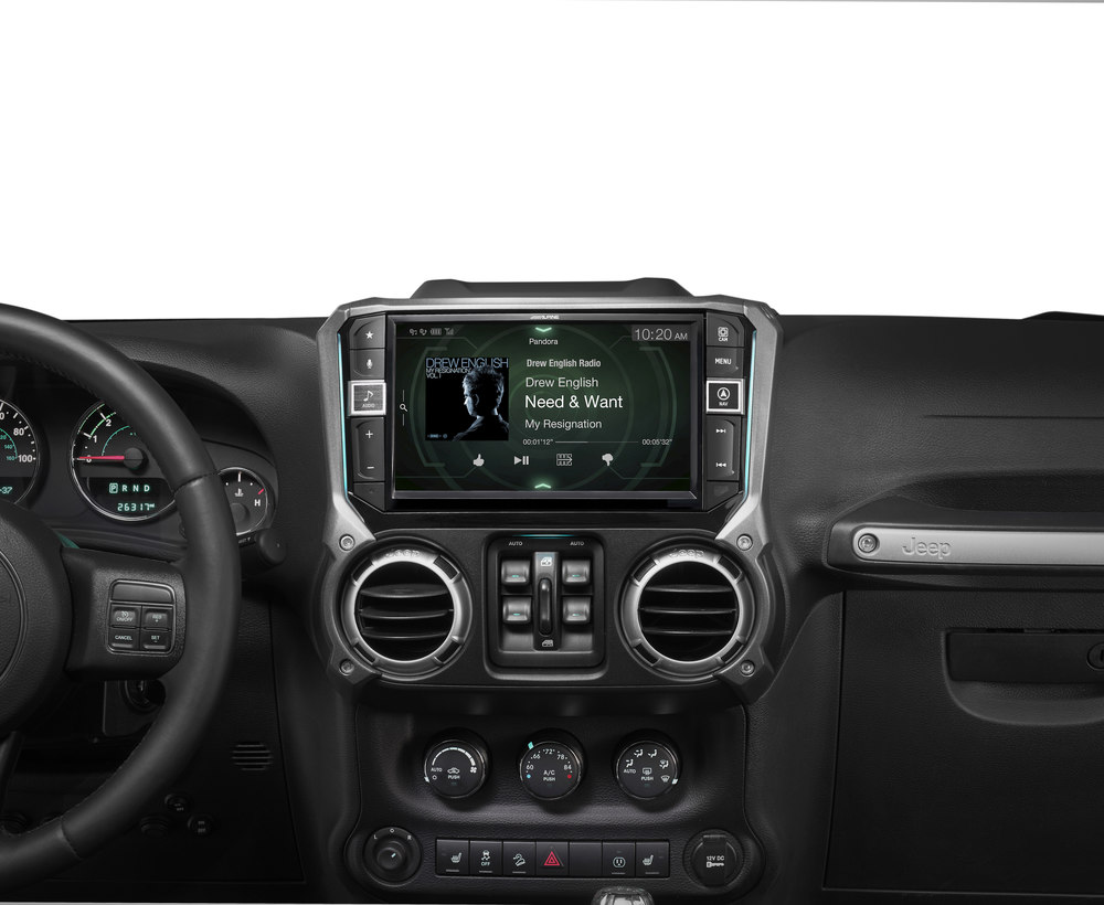 hight resolution of alpine i209 wra in dash restyle system custom fit digital multimedia receiver with 9 screen for select 2011 17 jeep wrangler jk and wrangler jk unlimited