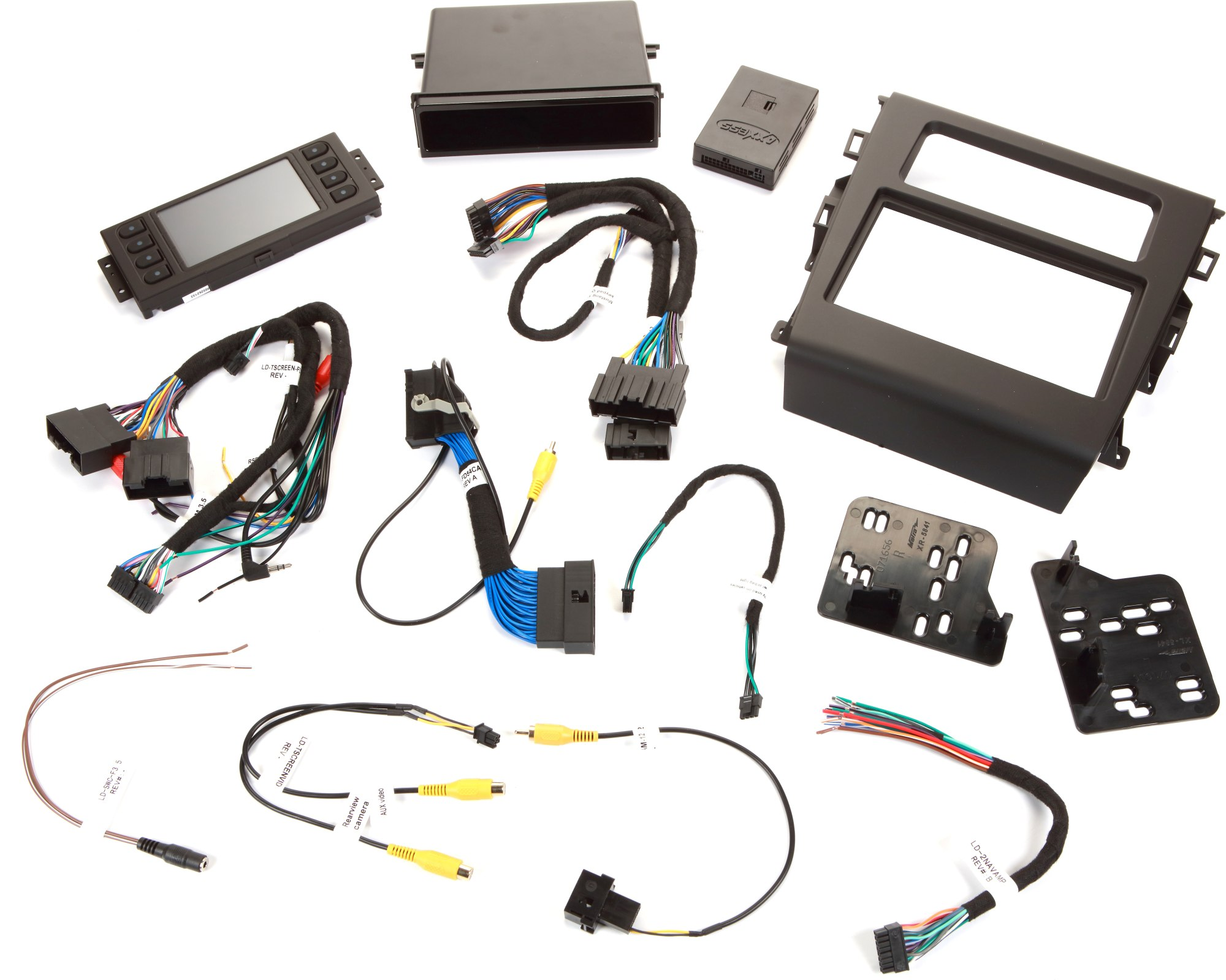 hight resolution of metra 99 5841b dash and wiring kit black install a new car stereo and retain steering wheel and climate controls in select 2013 up ford fusion vehicles