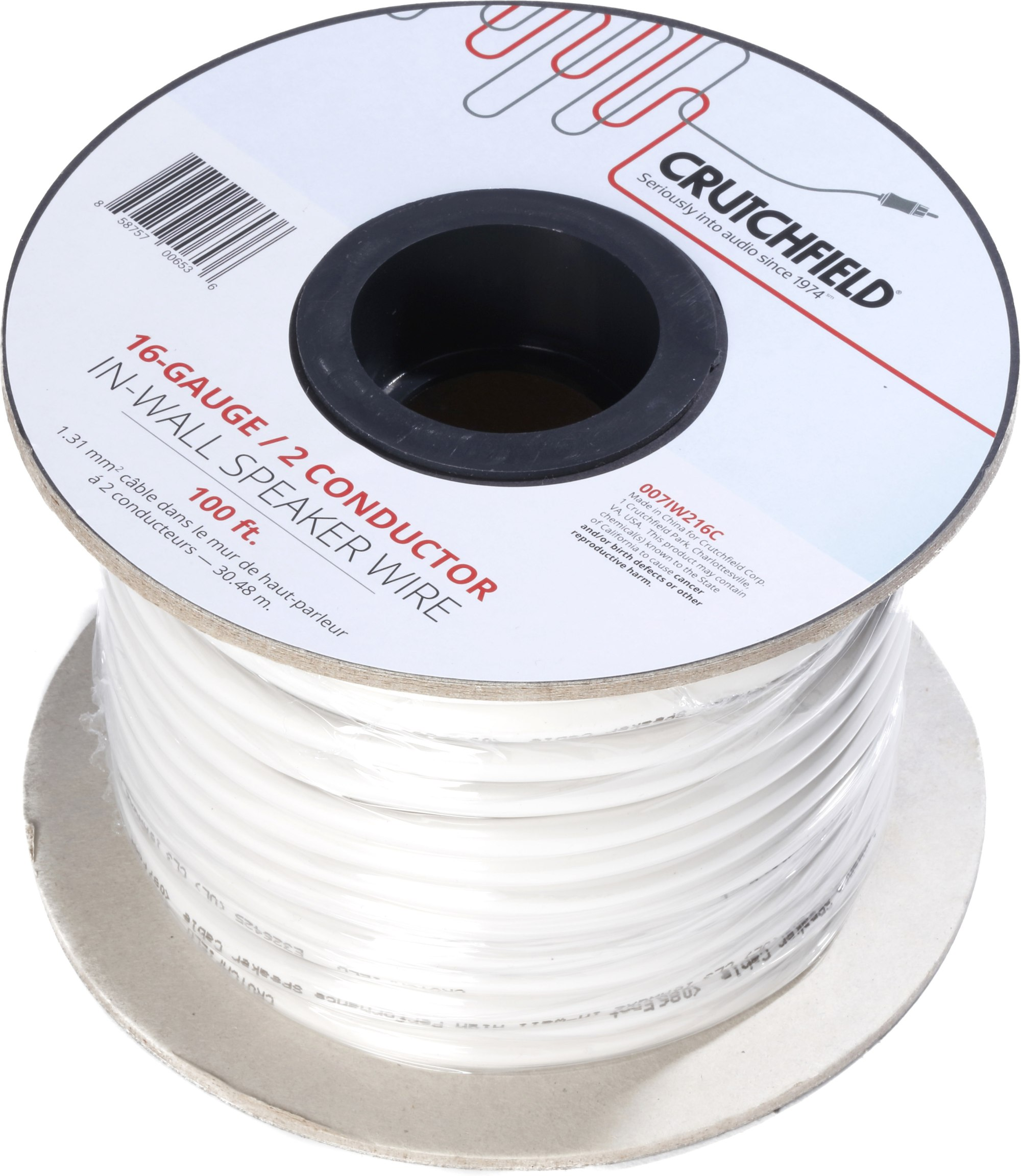 hight resolution of crutchfield in wall speaker wire 100 ft roll 16 gauge 2 conductor wire at crutchfield com