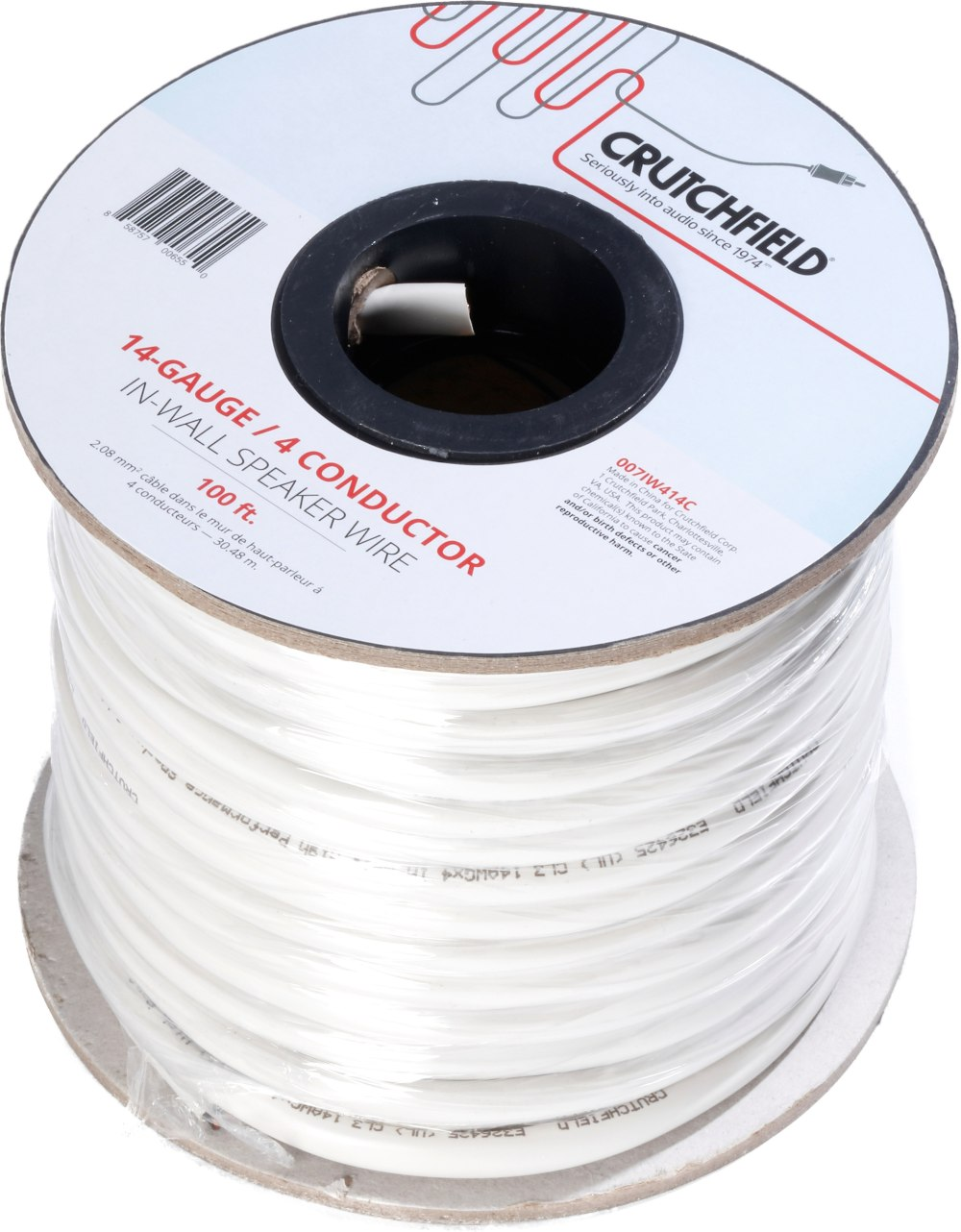medium resolution of crutchfield in wall speaker wire 100 ft roll 14 gauge 4 conductor wire at crutchfield
