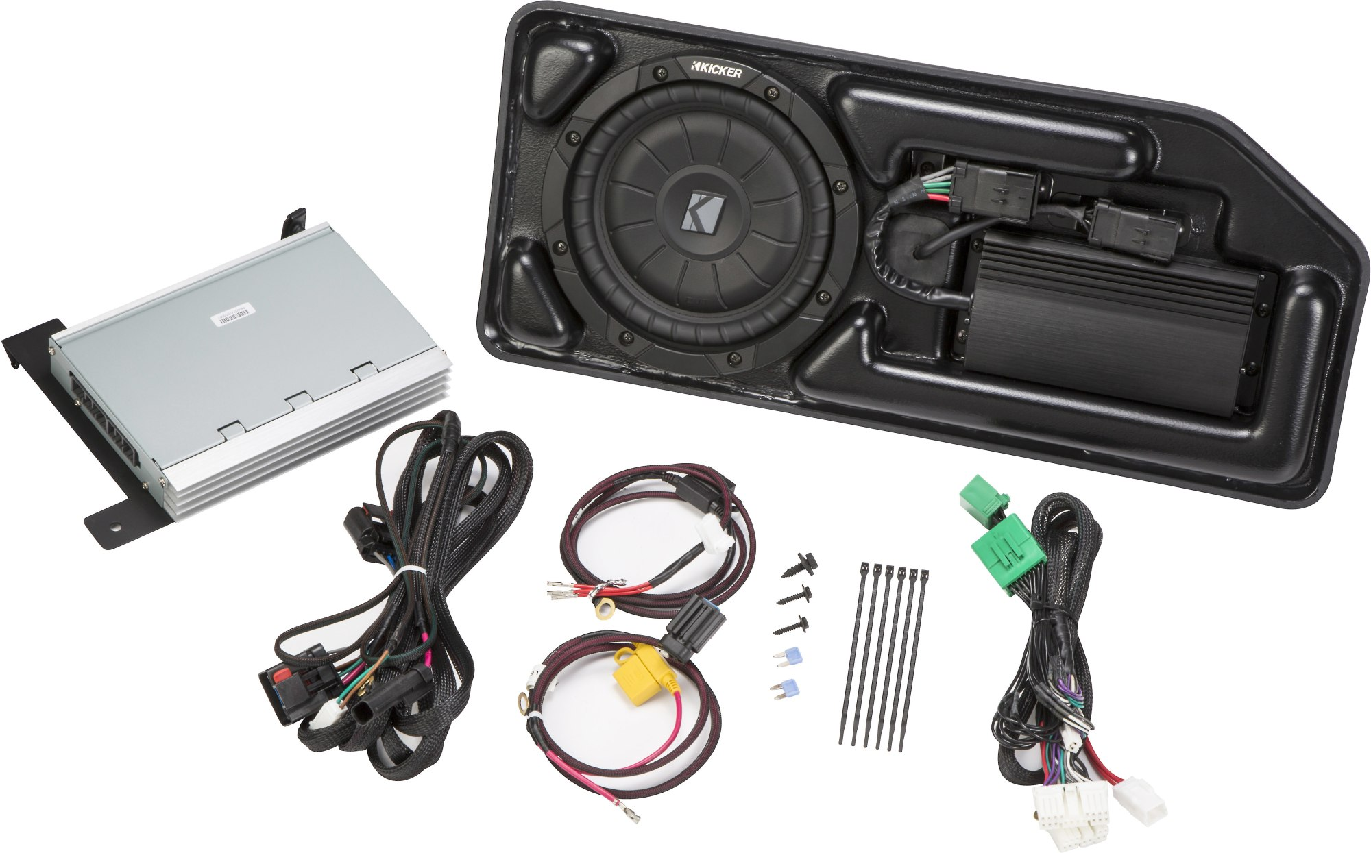 hight resolution of kicker vss powerstage pcocre15 upgrade the factory sound system in select 2015 up chevy colorado gmc canyon crew cab with basic audio system 2 knob