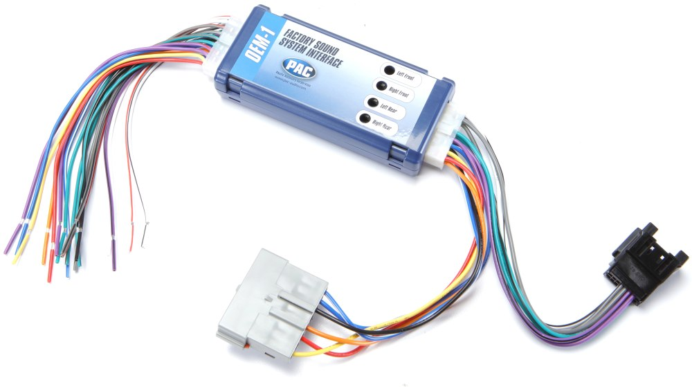 medium resolution of pac roem frd2 wiring interface connect a new car stereo and retain the factory amplifier in select 1995 2002 ford lincoln mercury and mazda vehicles at