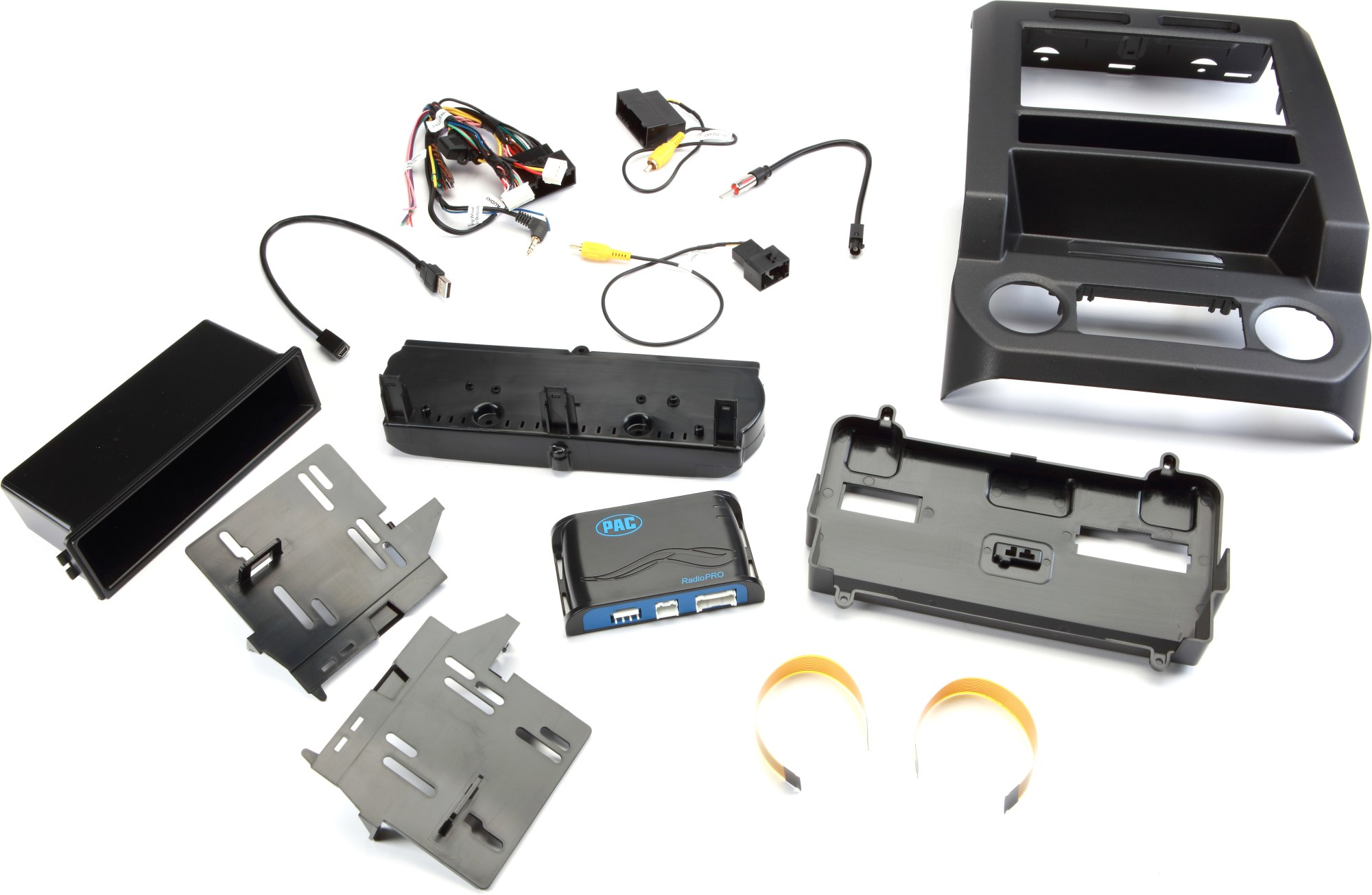 hight resolution of pac rpk4 fd2201 dash and wiring kit metallic black install and connect a single or double din car stereo and retain climate controls and other features