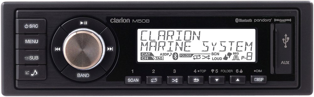 medium resolution of clarion m508 marine digital media receiver with bluetooth does not play cds at crutchfield