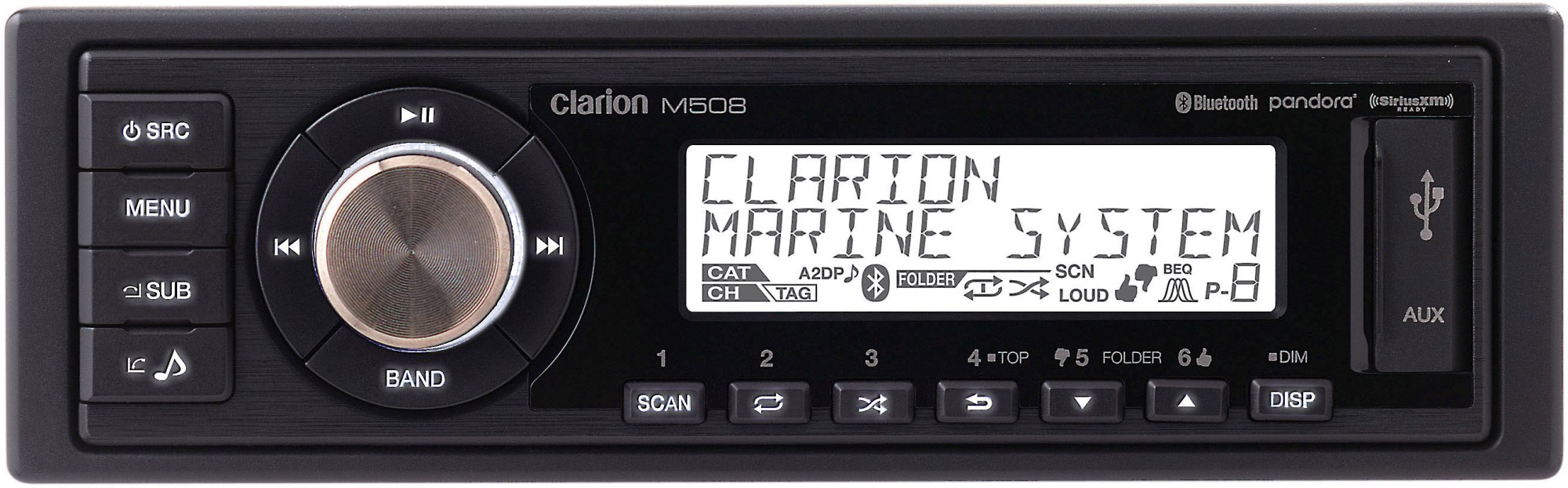 hight resolution of clarion m508 marine digital media receiver with bluetooth does not play cds at crutchfield