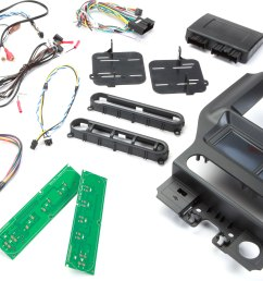 scosche itcfd05b dash and wiring kit black install and connect a car stereo in select 2015 up ford mustangs retains steering wheel controls aux input  [ 8351 x 4326 Pixel ]