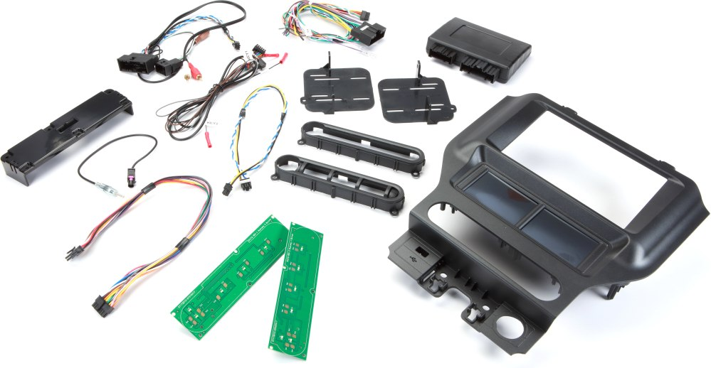medium resolution of scosche itcfd05b dash and wiring kit black install and connect a car stereo in select 2015 up ford mustangs retains steering wheel controls aux input