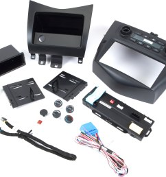 interior single din car radio stereo dash kit wire harness for 2003 2007 honda accord parts  [ 6823 x 5269 Pixel ]