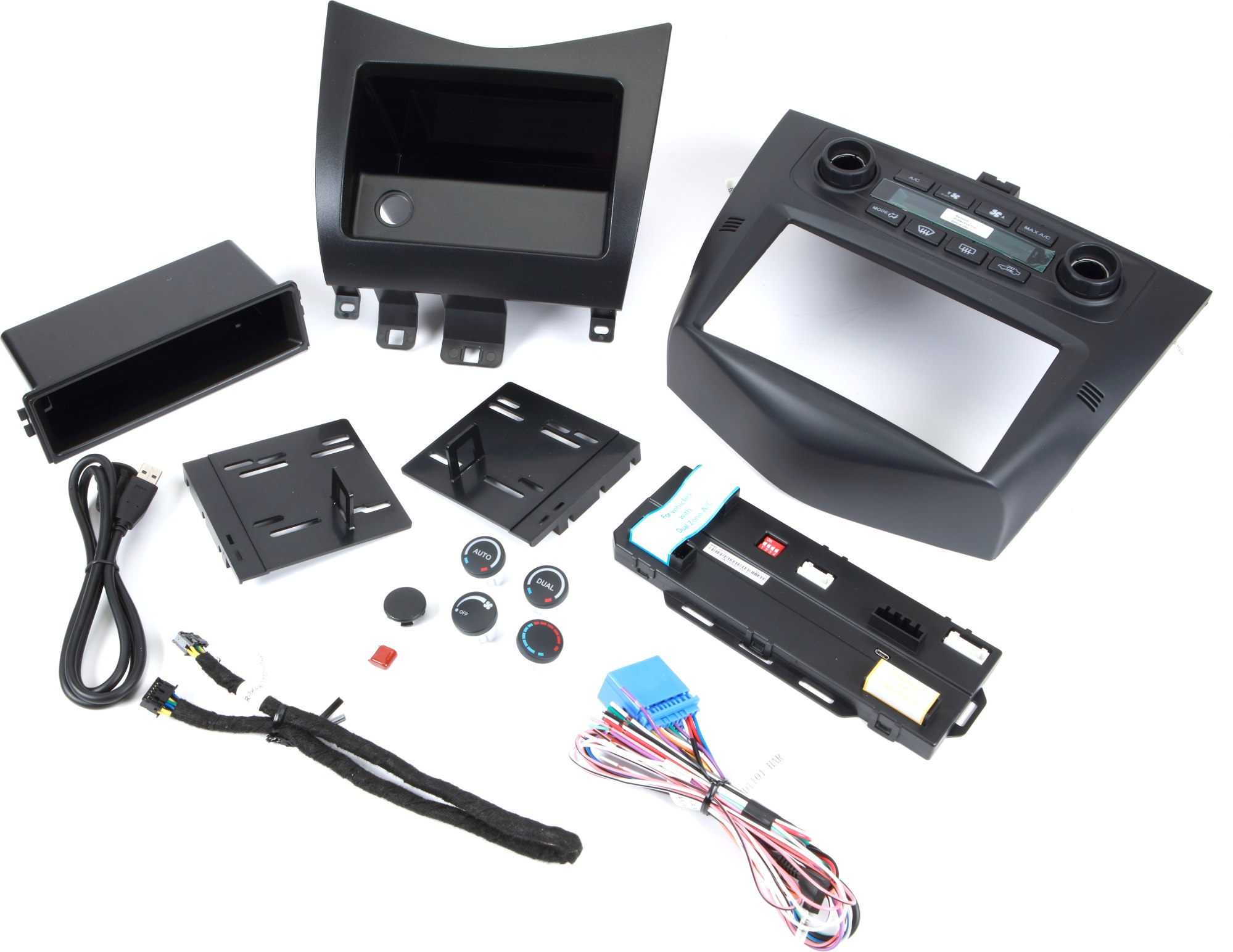 hight resolution of interior single din car radio stereo dash kit wire harness for 2003 2007 honda accord parts
