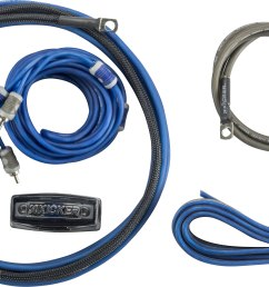 kicker 46ck8 complete 8 gauge amplifier wiring kit includes 2 channel patch cable and speaker wire at crutchfield com [ 5331 x 3007 Pixel ]