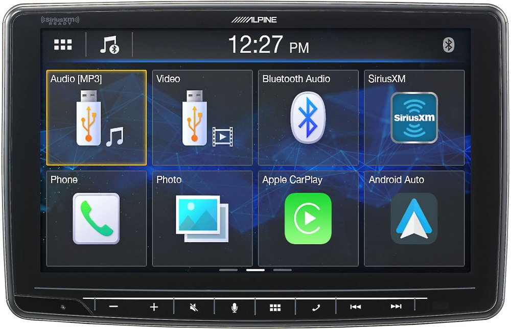 medium resolution of alpine ilx f259 digital multimedia receiver a 9 touchscreen that fits in a din dash opening does not play cds at crutchfield